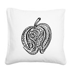 An Apple a Day Square Canvas Pillow