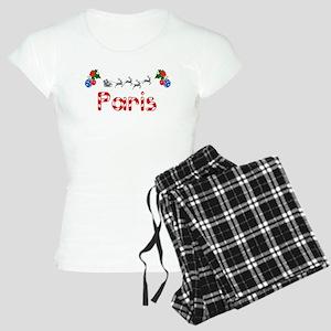 Paris, Christmas Women's Light Pajamas