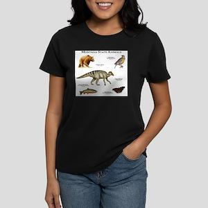 Montana State Animals Women's Dark T-Shirt