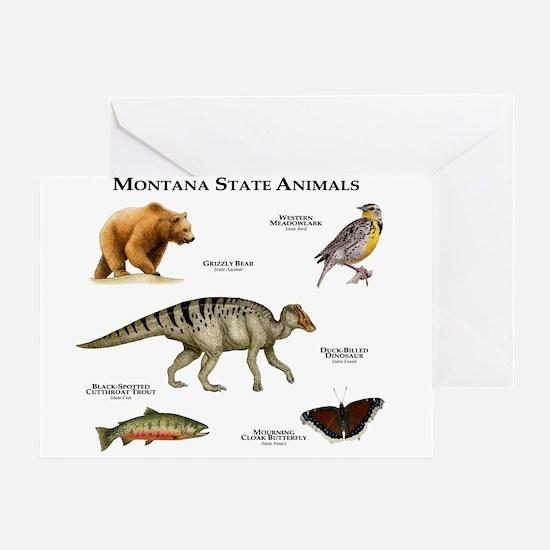 Montana State Animals Greeting Card