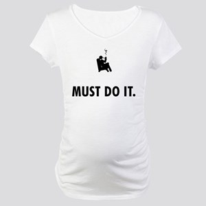 Pipe Smoking Maternity T-Shirt