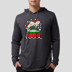 SNOWGLOBE TRIPLET 1ST XMAS Mens Hooded Shirt