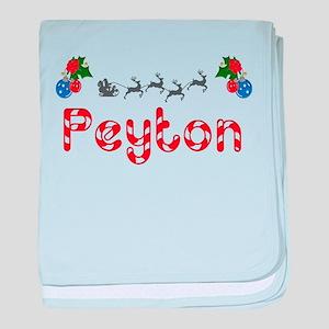Peyton, Christmas baby blanket