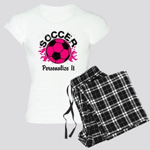 Personalized Soccer Flames Women's Light Pajamas