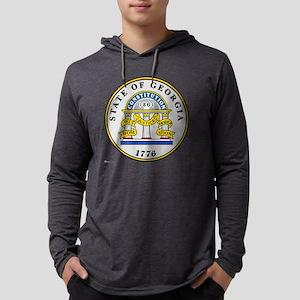 Georgia State Seal Mens Hooded Shirt