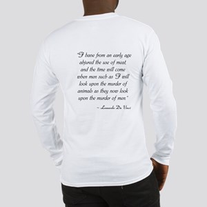 VEGAN Long Sleeve T-Shirt W/Da Vinci Quote