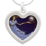 The Princess Silver Heart Necklace