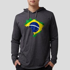Brazil Mens Hooded Shirt