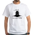 M-2 Ad black White T-Shirt