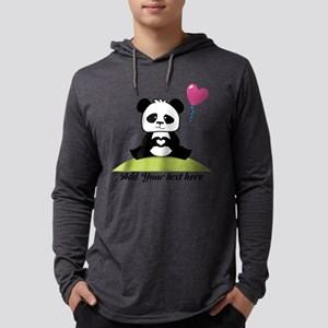 Custom Pandas hands showing love Mens Hooded Shirt