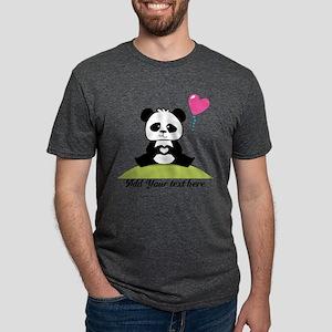 Custom Pandas hands showing Mens Tri-blend T-Shirt