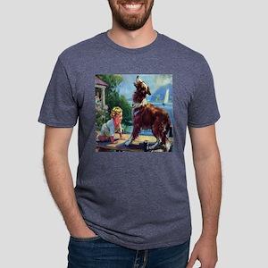 collie bark til Mens Tri-blend T-Shirt