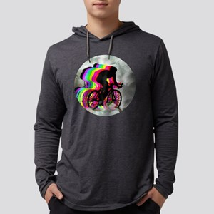 Cycling in the Clouds Mens Hooded Shirt
