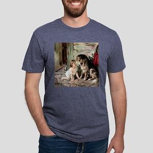 collie  cat til Mens Tri-blend T-Shirt