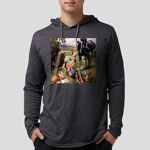 horse  puppies til Mens Hooded Shirt
