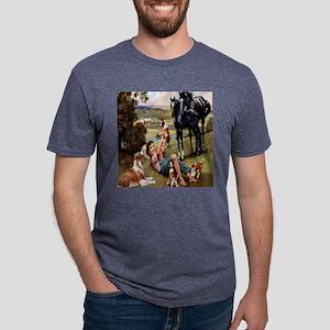 horse  puppies til Mens Tri-blend T-Shirt