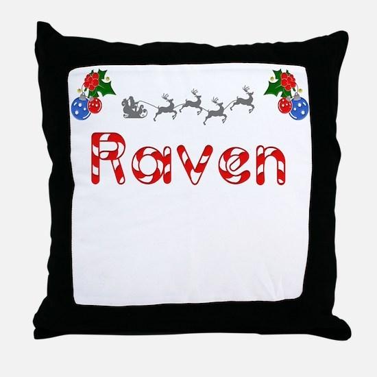 Raven, Christmas Throw Pillow