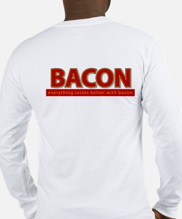 """Powered by BACON"" Long Sleeve T-Shirt"