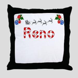 Reno, Christmas Throw Pillow