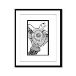 Bird in a Box Framed Panel Print