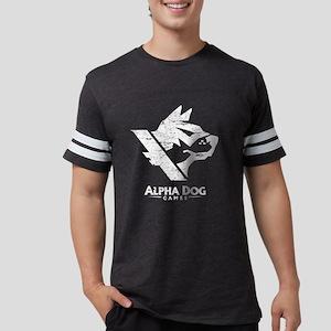 Alpha Dog Games Grey Distresse Mens Football Shirt