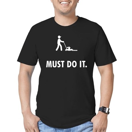 Lawn Mowing Men's Fitted T-Shirt (dark)