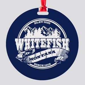Whitefish Old Circle Round Ornament