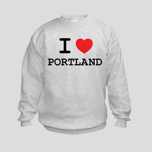 I LOVE PORTLAND Kids Sweatshirt