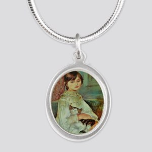 Julie Manet by Renoir Silver Oval Necklace