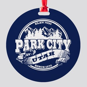 Park City Old Circle Round Ornament