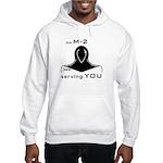 M-2 Ad black Hooded Sweatshirt