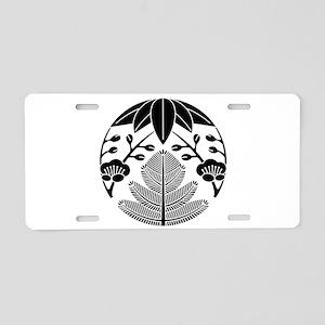 Pine-Bamboo-Japanese plum Aluminum License Plate
