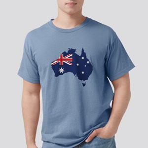Flag Map of Australia Mens Comfort Colors Shirt