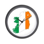 Map Of Ireland w/Flag Colors Wall Clock