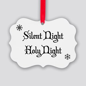 Silent Night Holy Night Picture Ornament