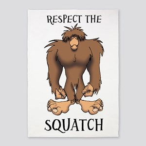 RESPECT THE SQUATCH 5'x7'Area Rug