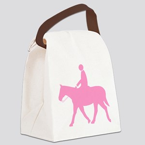Horse With Rider (P) Canvas Lunch Bag