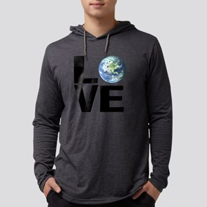 I Love the World Mens Hooded Shirt