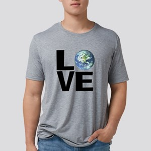 I Love the World Mens Tri-blend T-Shirt