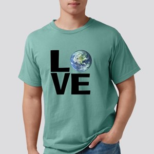 I Love the World Mens Comfort Colors Shirt