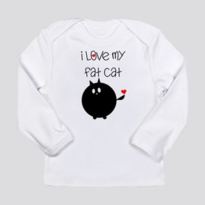 I Love My Fat Cat Long Sleeve Infant T-Shirt