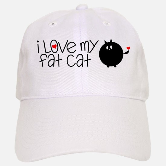 I Love My Fat Cat Baseball Baseball Cap