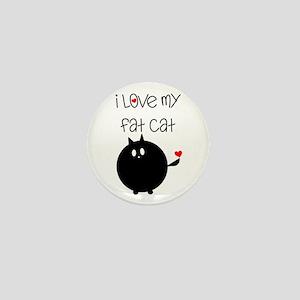 I Love My Fat Cat Mini Button