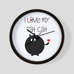 I Love My Fat Cat Wall Clock