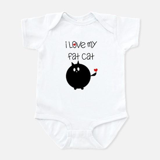 I Love My Fat Cat Infant Bodysuit