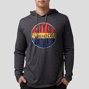 Kansas City Vintage Label W Mens Hooded Shirt