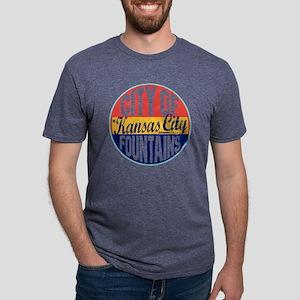 Kansas City Vintage Label W Mens Tri-blend T-Shirt