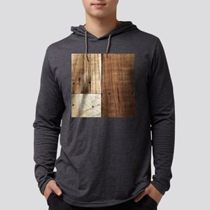 Wood Pallet Mens Hooded Shirt