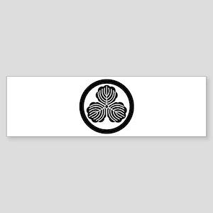 Three oak leaves in circle Sticker (Bumper)