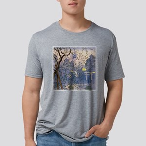Willow Tree Square Mens Tri-blend T-Shirt